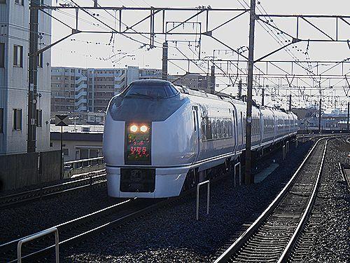 水カツ651系「スーパーひたち」(2011年1月17日・亀有駅)