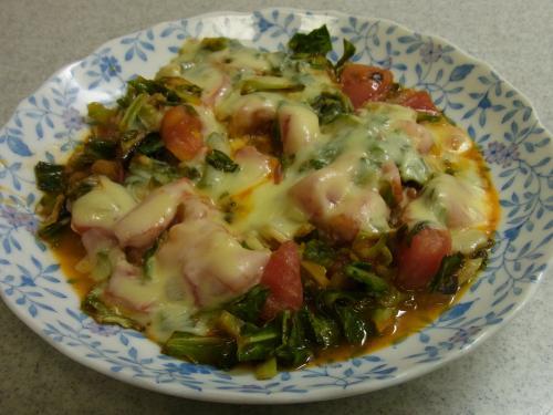 120520-020キャベツとトマトのチーズ焼き(S)