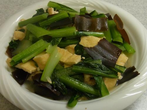 120701-030小松菜と油揚げの炊いたん(S)