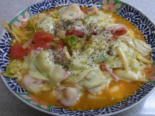 121018-220キャベツとトマトのチーズ焼(S)