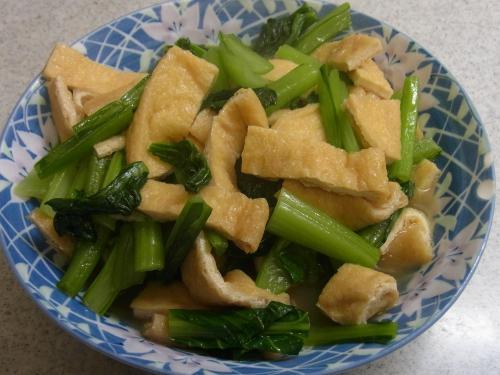 121103-231小松菜と油揚げの炊いたん(S)