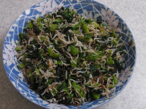 121215-221小松菜のシラスおかか和え(S)