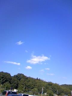 透きとおるような空!