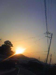 今日の夕焼け2
