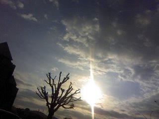 今朝の空!