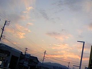 きれいな夕焼け!