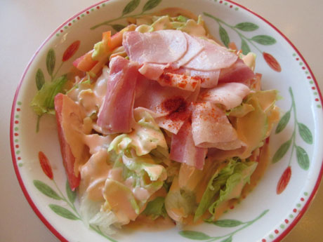 薄切りパンチェッタのサラダ