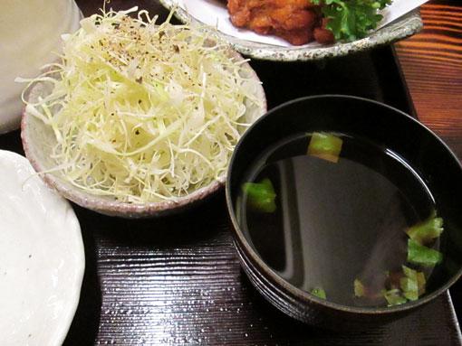 サラダ&味噌汁