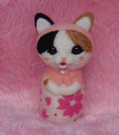 桜マト三毛猫1