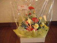 J子氏から頂いたお花