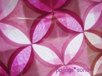 ピンクの如意珠紋