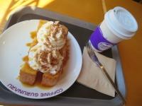朝食のトーストセット