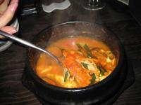 コンビジだっけ?豆腐のスープというか鍋みたいな