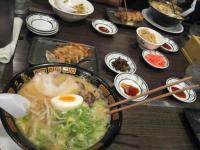 最後の日本食はとんこつラーメンで