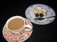 李楽のケーキセット フラッシュついて写真がいまいち