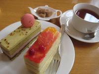ミュゲのケーキセット(なんとケーキ2個!)私の分