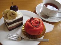 ミュゲのケーキセット 友達の分 ラビアンローズとかいうケーキ