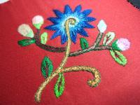 午後からがんばった刺繍(中級)