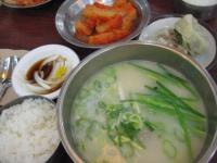 野菜&豆腐ソルロンタンと饅頭