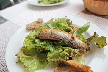 鮎のサラダ