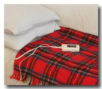 電気ひざ掛け毛布