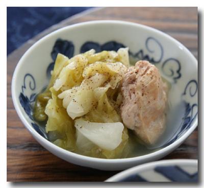 キャベツと鶏肉のとろとろバター蒸し煮
