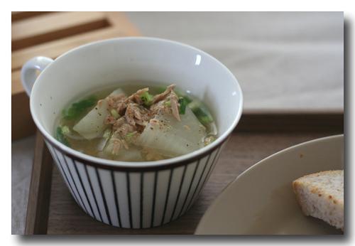 大根とツナのスープ