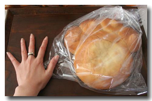 大きいネコの手パン