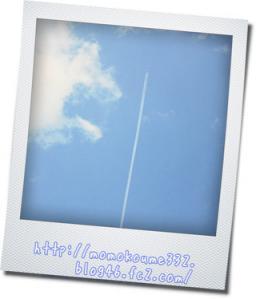 飛行機雲デス♪