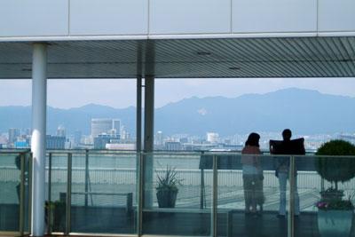 DSCF4376空港屋上で神戸方面