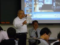 田上先生と、江藤駅長