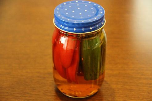 胡瓜とパプリカのピクルス