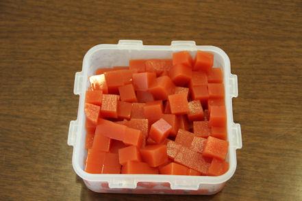 トマト寒天オレンジ入り!