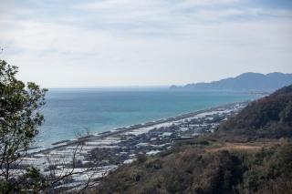 久能山から臨む海岸線
