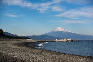 三保の松原からの富士