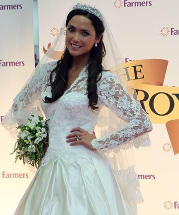 Nicola Simpson models Kate Middletons replica dress