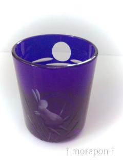110816兎の切子グラス-1