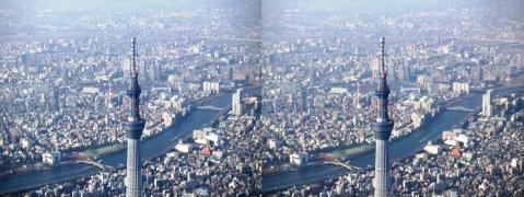 東京スカイツリー①11.02.26(交差法)