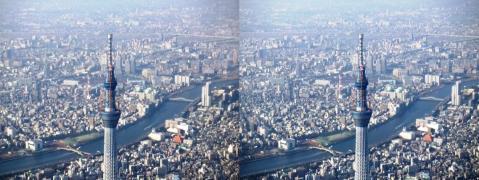 東京スカイツリー①11.02.26(平行法)