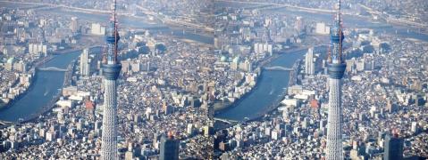東京スカイツリー②11.02.26(平行法)