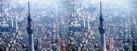 東京スカイツリー③11.02.26(平行法)
