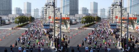 東京マラソン①11.02.27(交差法)
