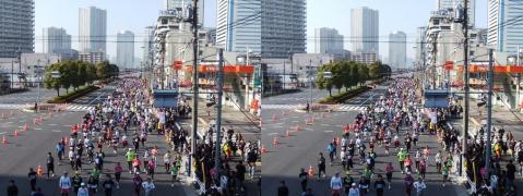 東京マラソン①11.02.27(平行法)