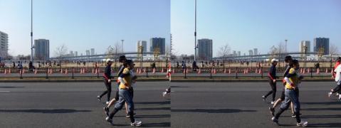 東京マラソン④11.02.27(交差法)