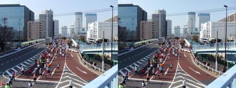 東京マラソン③11.02.27(交差法)