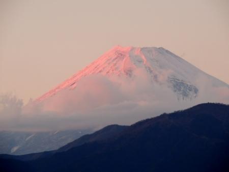 N3739夕陽の富士