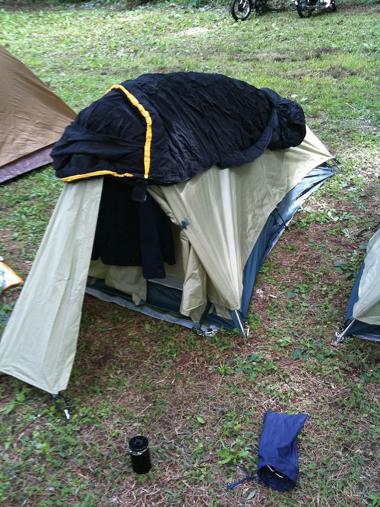 テント設営!