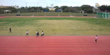 福島大OLたちの練習風景