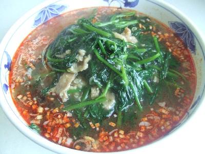 空芯菜酸辣麺