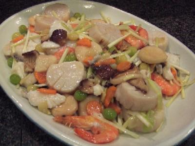 2010_0925本日の海鮮と旬の銀杏の塩炒め
